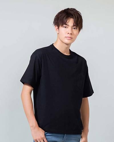 5.6オンスポケット付きビッグ半袖Tシャツ(ブラック)