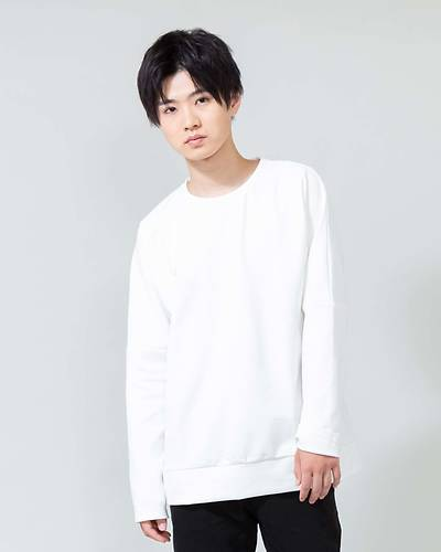 ドルマン長袖Tシャツ(ホワイト)
