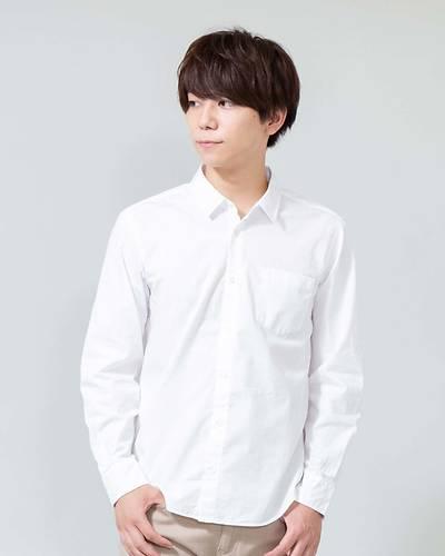 日本製ナノファイン加工ブロードレギュラーカラーシャツ (ホワイト)