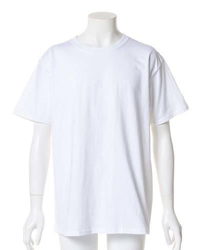 【Champion (チャンピオン)】ベーシッククルーネック半袖Tシャツ(ホワイト)
