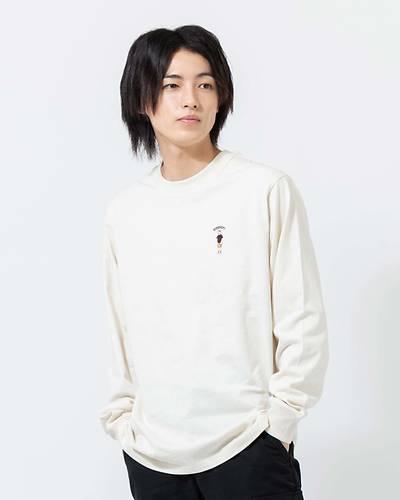 OE天竺クルーネック長袖Tシャツ(アイボリー)