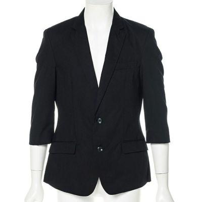 七分袖テーラードジャケット(ブラック)