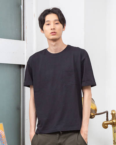 天竺ルーズ半袖Tシャツ(ブラック)