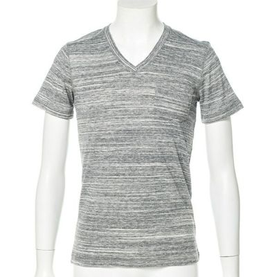 トリッキー杢フライス半袖Tシャツ(グレー)