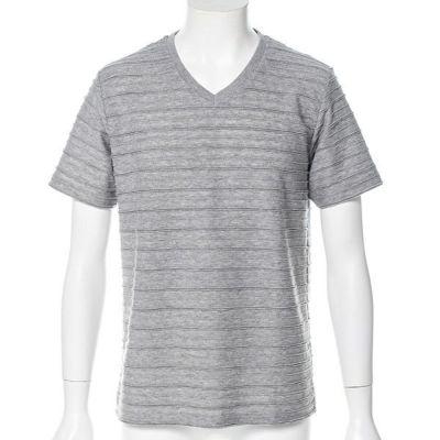 タックボーダー半袖Tシャツ(グレー)