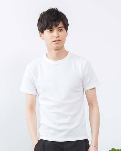 ワッフル半袖Tシャツ(ホワイト)