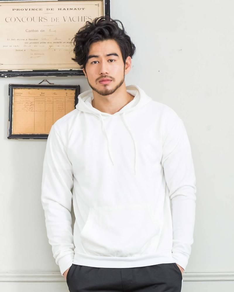 裏毛プルパーカー(ホワイト)