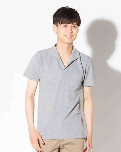 イタリアンカラーポロシャツ(グレー)