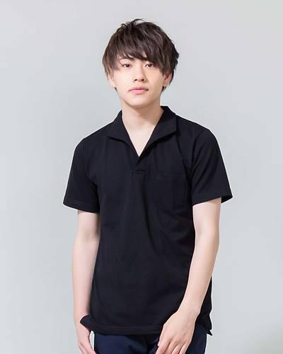 イタリアンカラーポロシャツ(ブラック)