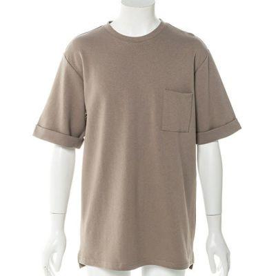 ドロップショルダー半袖Tシャツ(ベージュ)