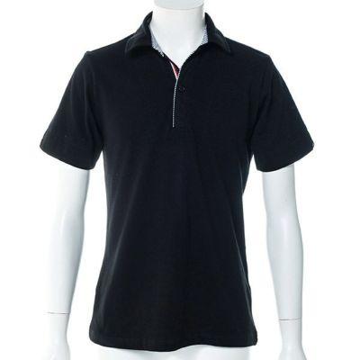 鹿の子半袖ポロシャツ(ブラック)