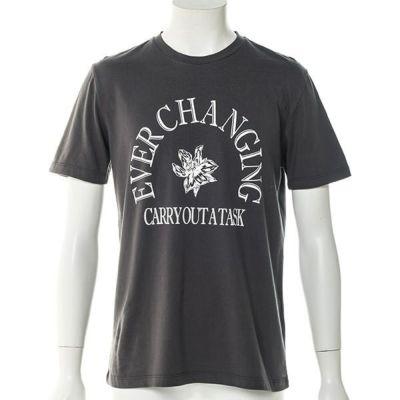 プリント半袖Tシャツ(チャコール)