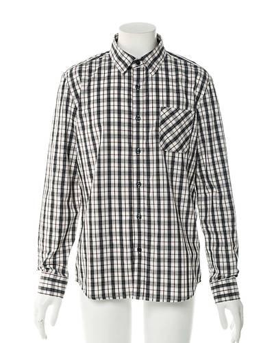 チェック長袖シャツ(ホワイトチェック)