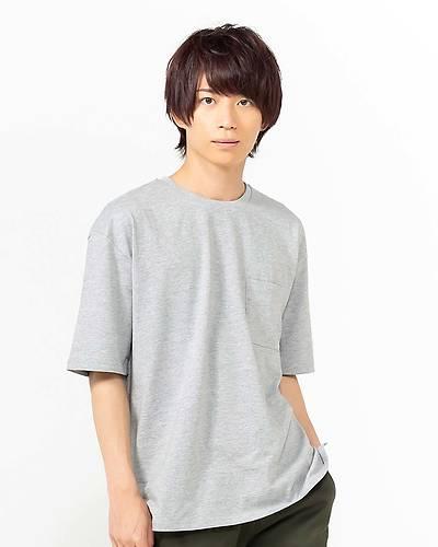 天笠ルーズ半袖Tシャツ(グレー)