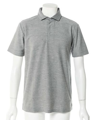 半袖ポロシャツ(杢グレー)
