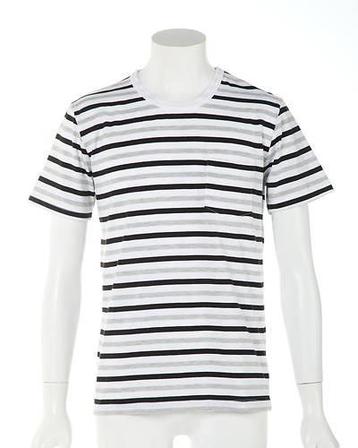 ボーダー半袖Tシャツ(モノトーンミックス)