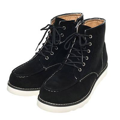 モックトゥ―レースアップワークブーツ(ブラック)