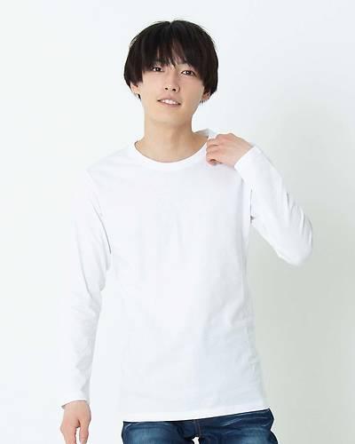 ラウンドネック長袖Tシャツ(ホワイト)