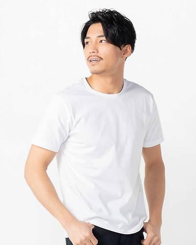 ラウンドネック半袖Tシャツ(ホワイト)