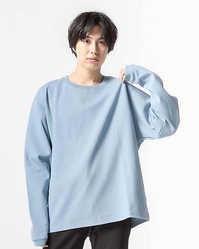 ビックリブ長袖Tシャツ(ブルー)