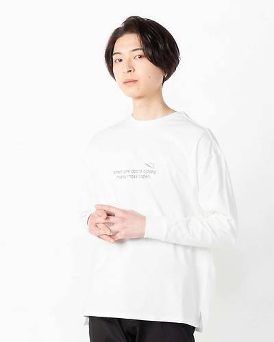 OLDIESバックプリント長袖Tシャツ(ホワイト)