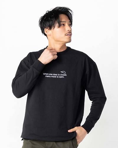 OLDIESバックプリント長袖Tシャツ(ブラック)