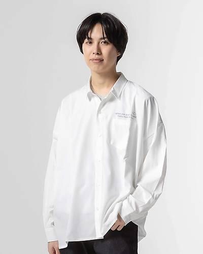 バックプリントルーズフィットシャツ(ホワイト)