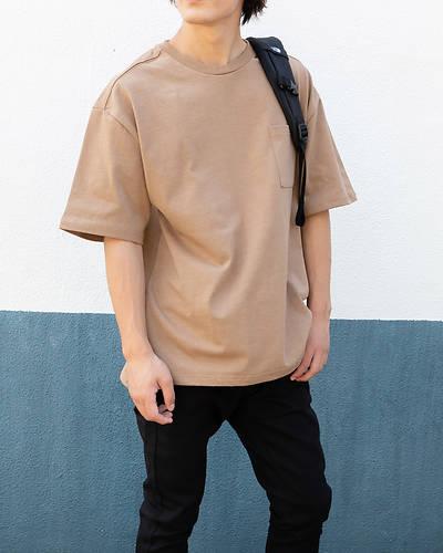 OE天竺五分袖Tシャツ(ベージュ)