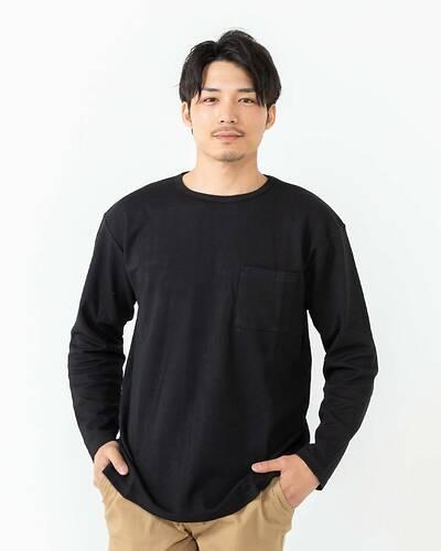 ドロップショルダー長袖Tシャツ(ブラック)