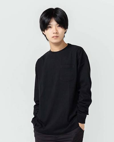 USAコットン長袖Tシャツ(ブラック)