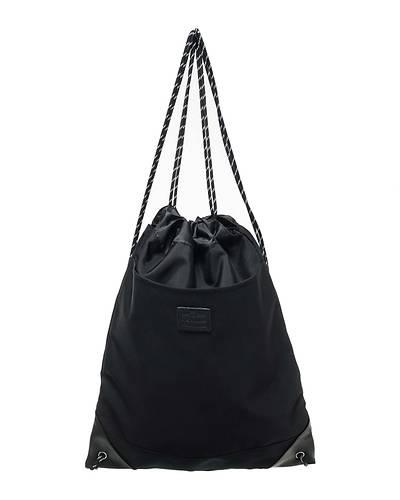 PVCナイロンナップサック/ジムサック(ブラック)