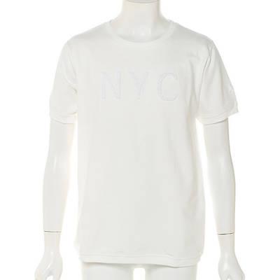 ミニ裏毛サガラ刺繍スウェットクルーTシャツ(オフホワイト)