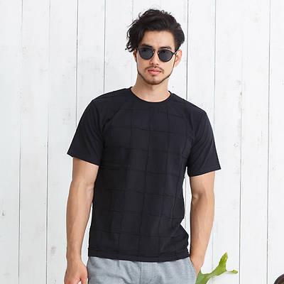前身ピンタック半袖Tシャツ(ブラック)