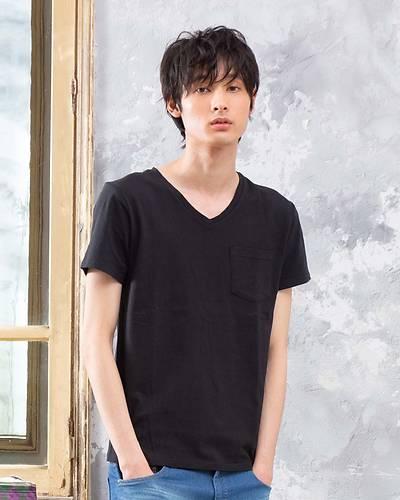 USAコットン半袖無地Tシャツ(ブラック)